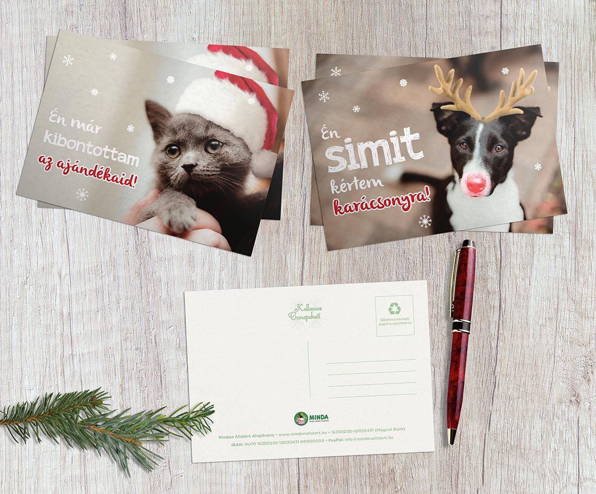 Minda karácsonyi képeslapok